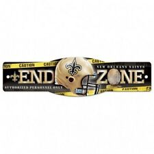 """Wincraft New Orleans Saints NFL End Zone Man Cave Street Sign 4.5"""" x 17"""" NEW"""