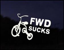 FWD Sucks Car Decal Sticker JDM Funny Car Decal Euro Drift VAG VW DUB Vinyl