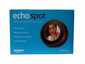 "AMAZON Echo Spot Video Home Assistant 2.5"" Screen Size - Black"