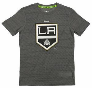 Reebok NHL Youth Los Angeles Kings Short Sleeve Fashion Tee, Gray