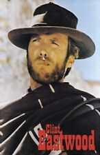 CLINT EASTWOOD ~ SMOKING PONCHO ~ 24x36 MOVIE POSTER ~ Western Good Bad Ugly