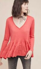 New With Tag Anthropologie By Deletta Ruffled  Long Sleeves Top. Medium size