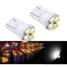 30x #555 T10 4SMD LED Pinball Machine Light Bulb White 6.3V P2