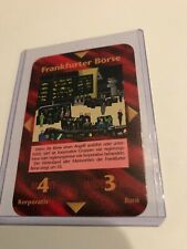 FRANKFURTER BORSE : Illuminati German INWO CCG 1996 card, Rare UNIQUE, Corporate