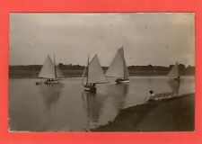 Woodbridge Yacht Yachting RP pc used 1922 Welton ? Ref R892
