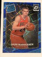 2017-18 Donruss Optic # 159 Lauri Markkanen RC Rated Rookie Blue Velocity Prizm