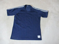 VINTAGE Champion Jersey Shirt Adult Large Navy Blue White 50/50 Blend Mens 80s