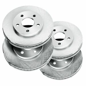 For 2004 Mercedes-Benz C230 Front Rear PowerSport Blank Brake Rotors