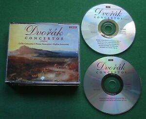 Dvorak Concertos (Complete) Piano Violin Cello Saint Louis S/O Susskind 2 x CD