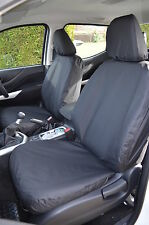 Nissan Navara NP300 Double Cab 2016 Onwards Black Front & Rear Seat Covers