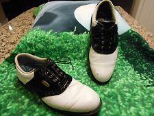 Footjoy Dryjoys Golf shoes Men SZ 9M Optiflex Platform Good Playing condition