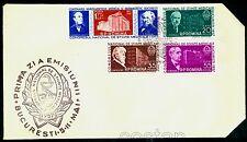 1957 Medicine,Medical Congress,Dr.Babes,Marinescu,Davila,Romania,M.1635,1149,FDC