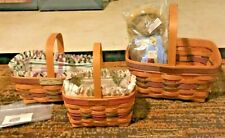New ListingLongaberger Lot of 3 Bee Baskets & Boyd's/Longaberger Bee Bear!