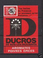 Ancienne étiquette Allumettes France Ducros