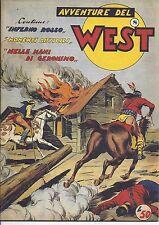 Avventure del West  n. 8  1954  prima serie  ristampa anastatica