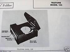 TELETONE 133 PHONOGRAPH - RADIO COMBO PHOTOFACT