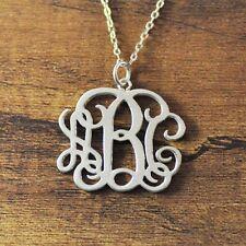Personalized Monogram Necklace, Custom initials necklace, Alloy Monogram jewelry