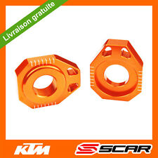 TENDEURS CHAINE KTM 125 150 250 350 450 SX SX-F XC XC-F SMR 13-18 ORANGE SCAR