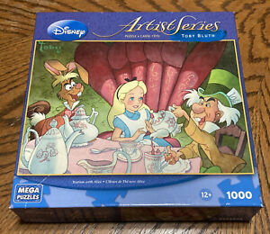Disney Artist Series Puzzle Teatime With Alice in Wonderland Tea Party 1000 Pc
