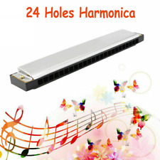 Professional 24 Hole Harmonica Key of C Mouth Metal Organ for beginners with Box