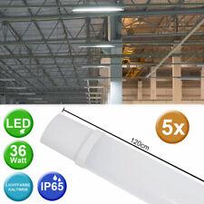 5er Set SMD LED Wannen Leuchten Tages-Licht Lampen Keller Garage Halle Nass-Raum