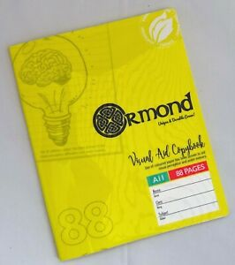 Ormond Tinted Paper Exercise Books x3 Ideal For Dyslexia SEN Lined - Yellow