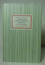 Insel- Bücherei Nr. 481 Über das Marionetten Theater (W.)