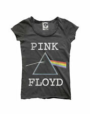 Ladies Charcoal Pink Floyd Dark Side of The Moon T-shirt From Amplified Vintage L