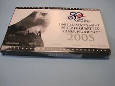 2005 United States Mint 50 State5 matte proof coins Quarters Silver Proof Set