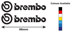 Brembo Caliper Stickers x2 Multiple Colours/Sizes Available