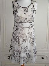 Vestido de fiesta 100% Seda M&S Boda Noche Bautizo Size UK 10