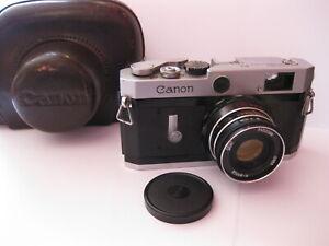 Canon P Leica L39 Screw Mount 35mm Rangefinder Camera W/  INDUSTAR M39 Lens Case