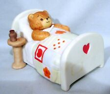 Lucy & Me Sick Bear in Bed, plays Spoonful of Medicine, Musical Music Box Enesco