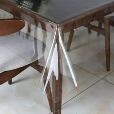 Clear Plastic Transparent Tablecloth Protector Water Proof Heavy Duty Easy Clean