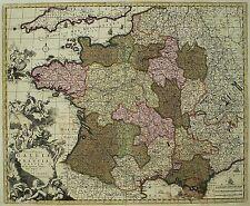 FRANKREICH Galliae sive Franciae - Allard - kolorierte Karte 1690