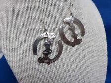 Nyame Etched Silver Pendant Earrings B Boho African Ethnic Jewelry Andinkra Gye