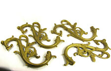 Arms for Chandelier Sconces Solid Cast Brass Heavy Italian Made Ornate Set of 4