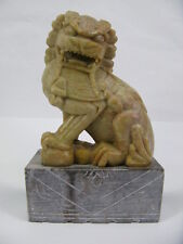 Vintage Asiatika Fo / Foo / Foshou Hund Speckstein Schnitzerei - China 1.H.20.Jh