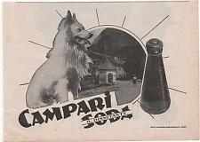 Pubblicità 1937 CAMPARI SODA LIQUOR MILANO advertising werbung publicitè reklame