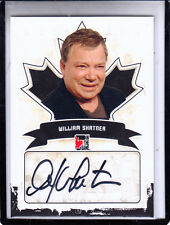 2011 IN THE GAME CANADIANA WILLIAM SHATNER STAR TREK/CAPTAIN KIRK AUTOGRAPH AUTO