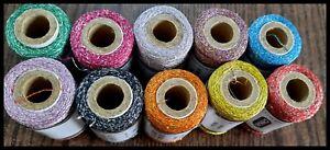 10 x Metallic Silk Spools of Sewing Machine Embroidery Threads For Jokey, Singer