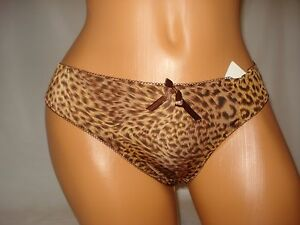 Very Sexy Leopard Lingerie Panty Ma Mia Intimates Gray Purple Pink Brown Gray