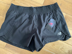 New Balance Womens Core Lined Shorts Black - Size 14 - NEW