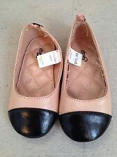 NEW Baby Gap Toddler Girls Dress Shoes Size 7 Flats Ballet Style Black Blush