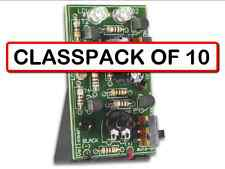 (CLASSPACK OF 10) Velleman MK148 Dual Super Bright Flashing Red Lights DIY KIT
