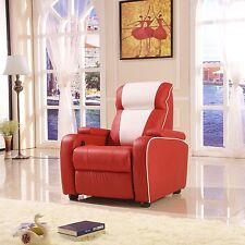 The original Metro Retro Movie Chair Home Cinema Seating Theatre Sofa Red Single