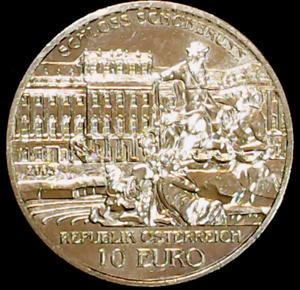 Austrian Mint Non-circulating Silver 10 Euro Coin Schönbrunn Palace