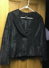 Embellished EVENING Party Blazer Jacket NABI Designer Dressy Black SMALL Womens