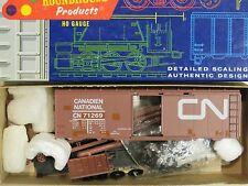 MOW TRAINS HO H&D/Roundhouse CANADIAN NATIONAL Material Car Work Train Kit NIOB