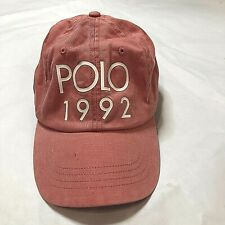 NWT Mens Polo Ralph Lauren POLO1992 Baseball Cap Hat adjustable red/pink 60.00